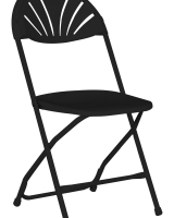 Black Plastic Fan Back Chair
