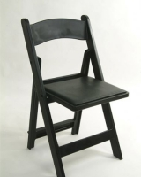 Black Resin Folding Chair