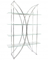Chrome X Glass Shelf