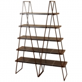 Rustic Leather Bookshelf