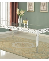 Mirror Table with Silver Trim