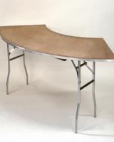 1/4 Round Serpentine Table
